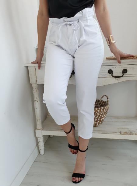 Spodnie jeans 8696 biały