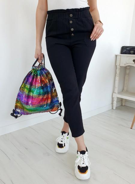 Spodnie jeans 9Y66 czarny