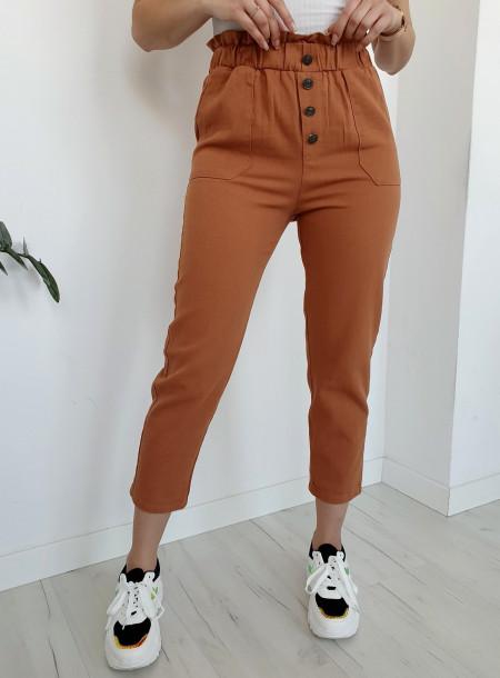 Spodnie jeans 9Y66 rudy
