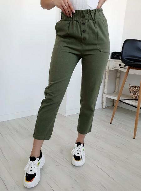Spodnie jeans 9Y66 khaki