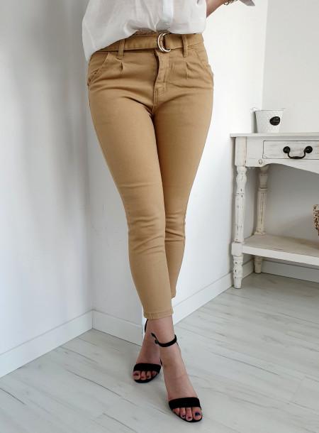 Spodnie jeans 8643 beż