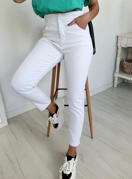 Spodnie jeans 8612 biały