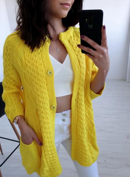 Kardigan 823 żółty