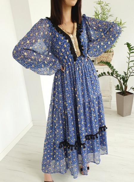 Sukienka 3539 niebieski