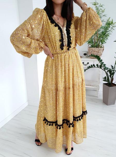 Sukienka 3539 żółty