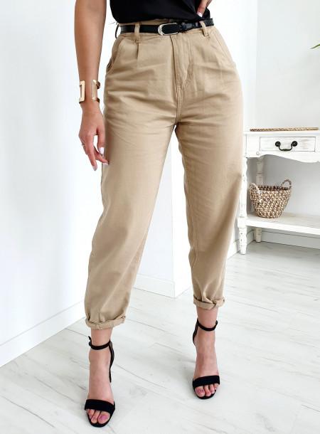 Spodnie jeans SJ652 beż