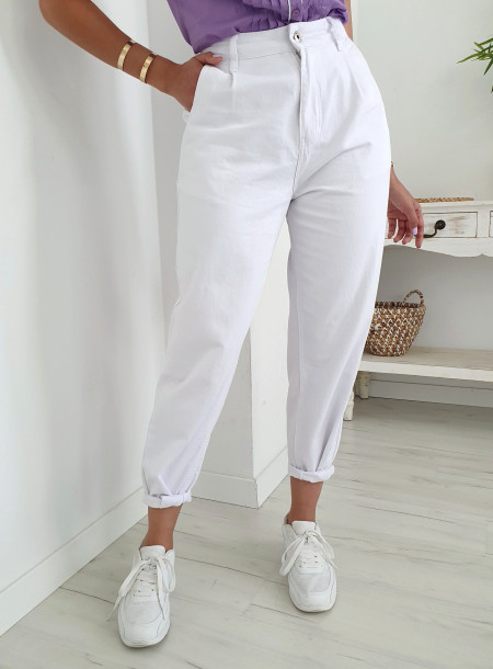 Spodnie jeans SJ652 biały