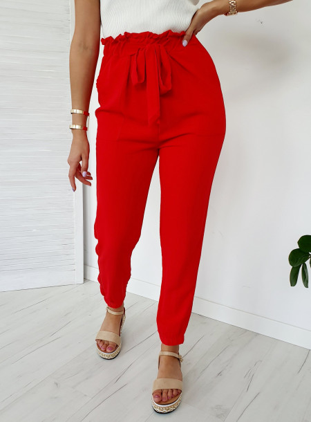 Spodnie 9806 czerwony