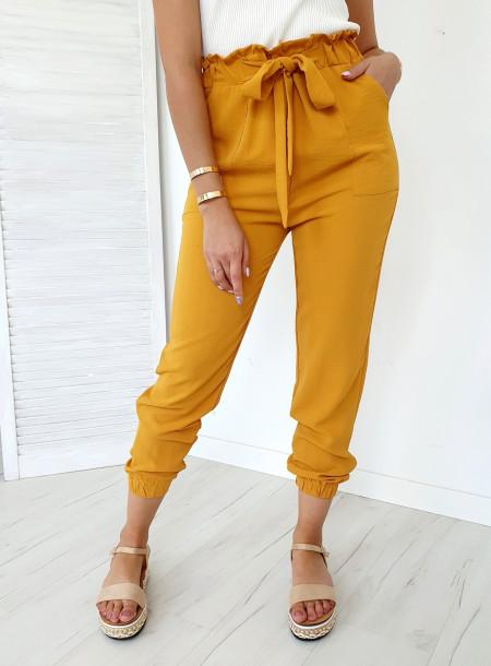 Spodnie 9806 żółty