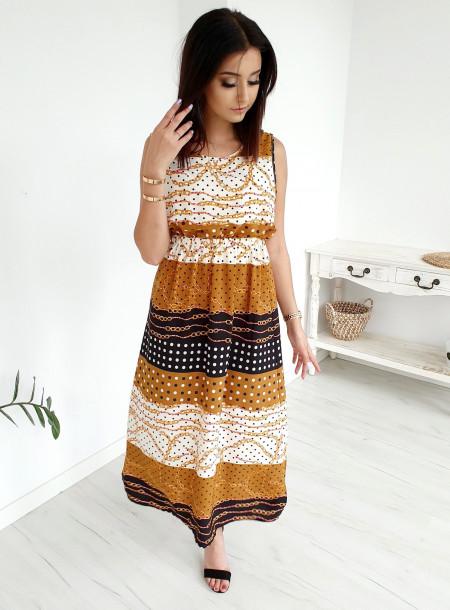 Sukienka 9607 żółty