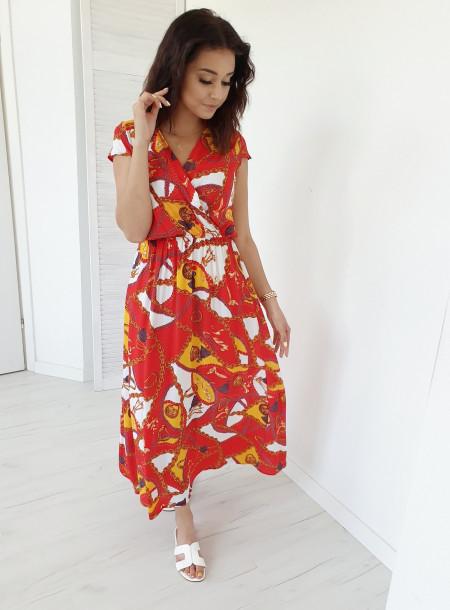 Sukienka 87537 czerwony