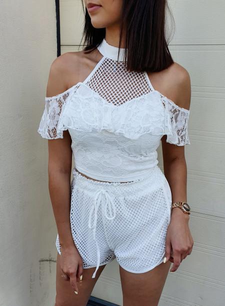 Komplet 076 biały