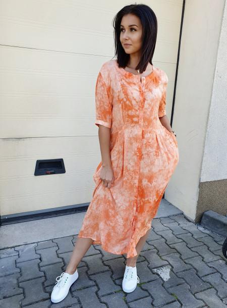 Sukienka 3620 pomarańcz