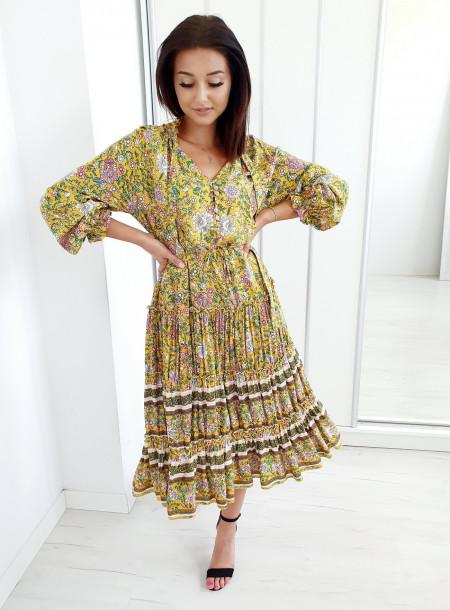 Sukienka 6493 żółty