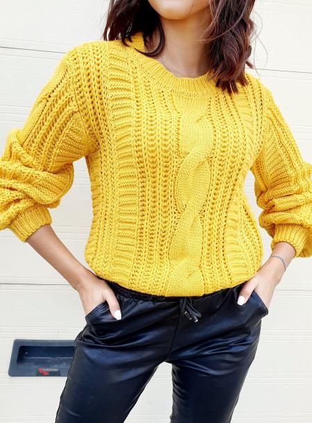 Sweter 1911 żółty