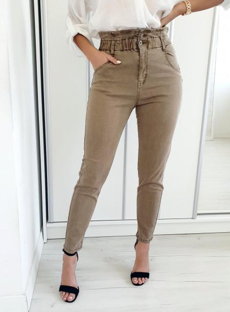 Spodnie 2957 beż size+