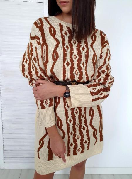 Sukienka / sweter 539 beż