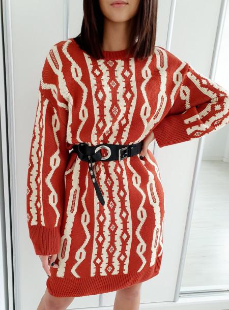 Sukienka / sweter 539 rudy