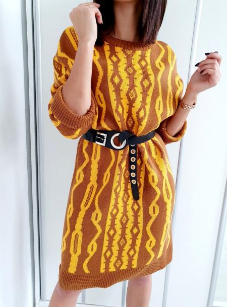 Sukienka / sweter 539 brąz