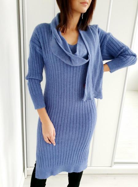 Sukienka A05 niebieski