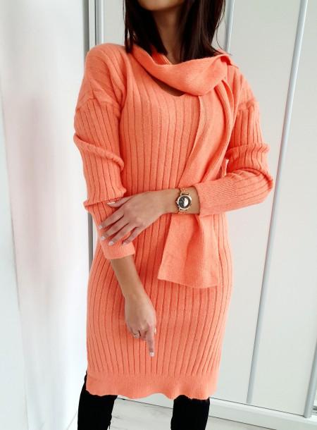 Sukienka A05 pomarańcz