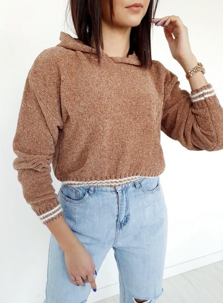 Sweter 1970 brąz