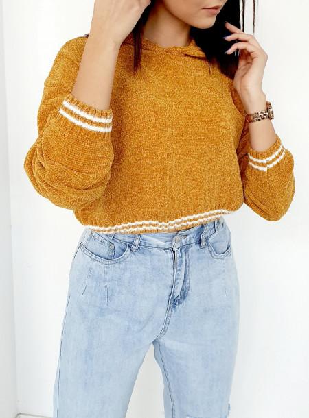 Sweter 1970 żółty