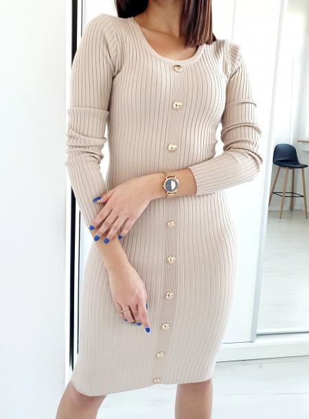 Sukienka 90289 jasny beż