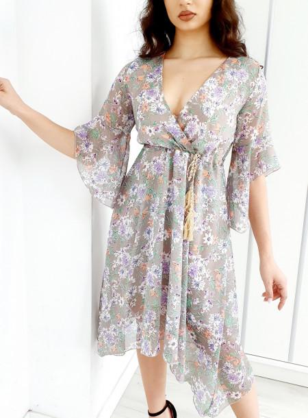 Sukienka 3015B szary