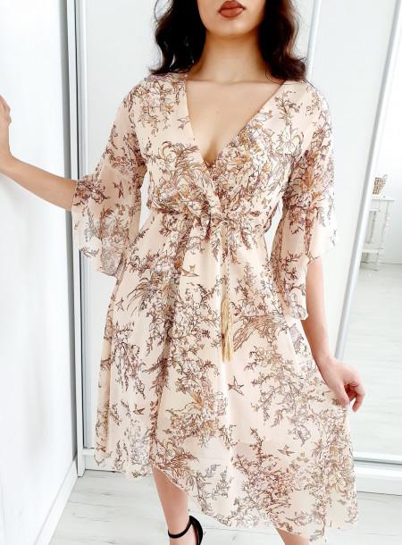 Sukienka 3015A beż