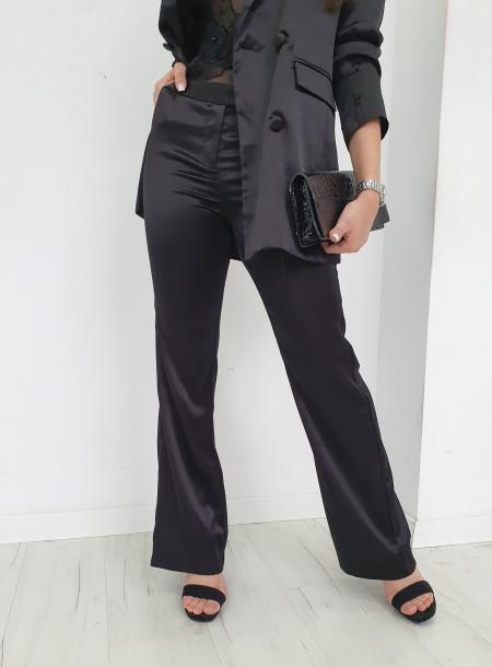 Spodnie satyna 7198 czarny
