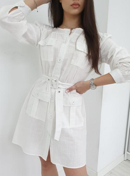 Sukienka 6233 biały