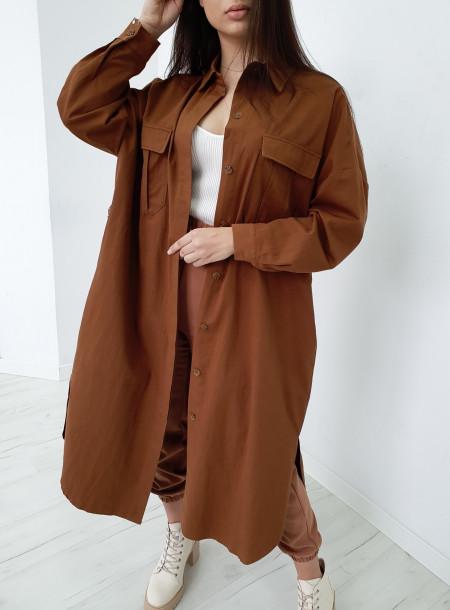 Płaszcz 9548 brąz
