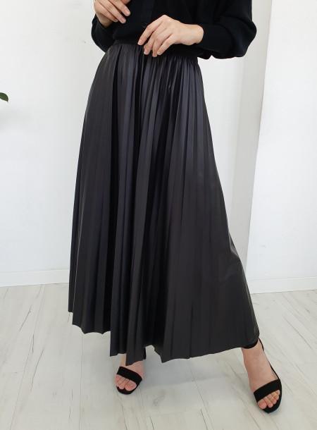 Spódnica plisy 3096 czarny