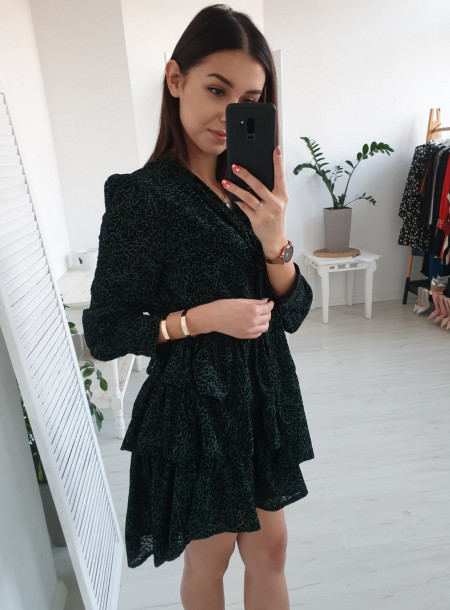 Sukienka 0594 zielony
