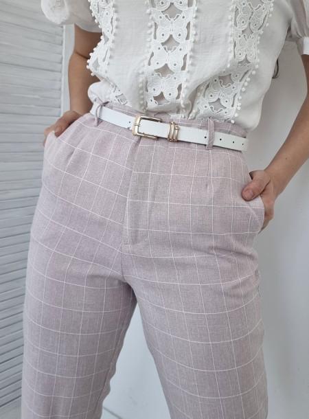 Spodnie krata 2123 puder