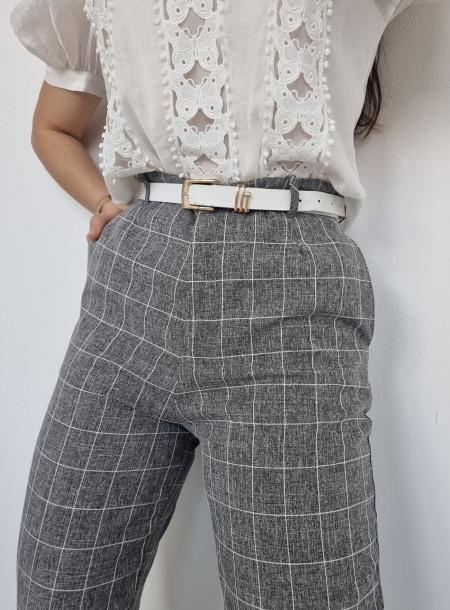 Spodnie krata 2123 szare
