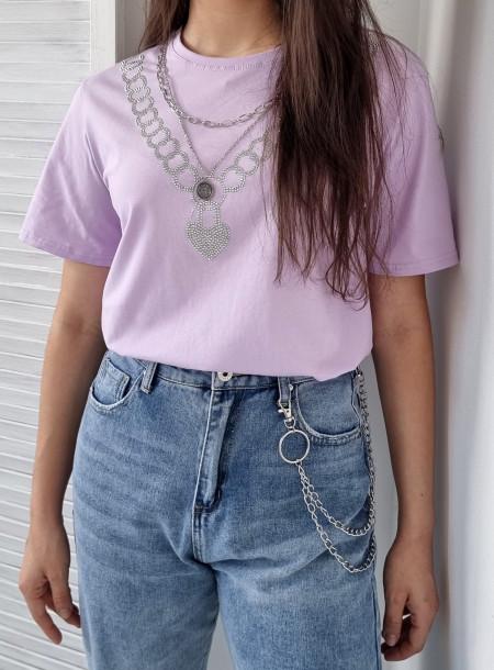 T-shirt łańcuch 383 lila