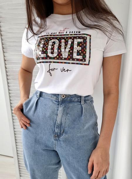 T-shirt love 223 biały
