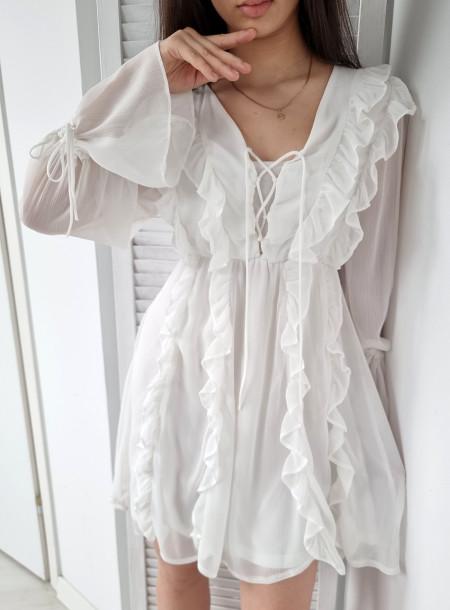 Sukienka 818 biała