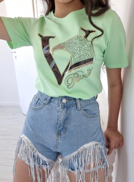 T-shirt 7556 zielony