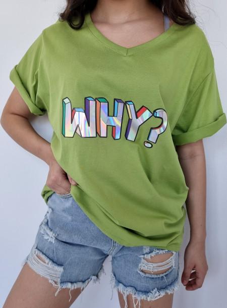 T-shirt why 1565 zielony
