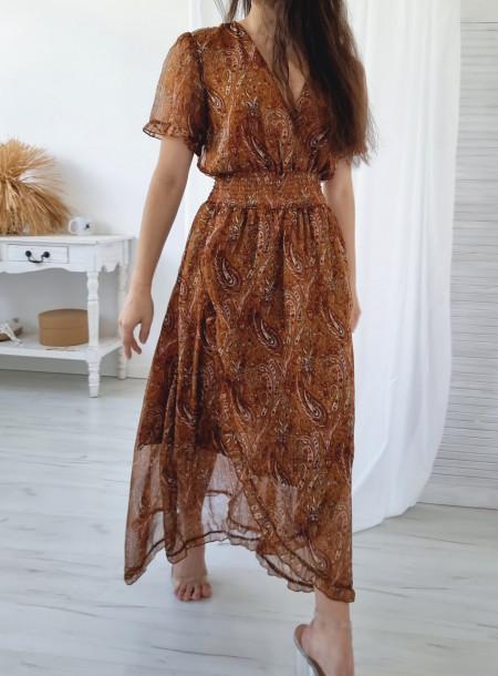 Sukienka 248 brąz