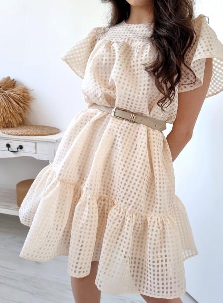 Sukienka 806 beżowa