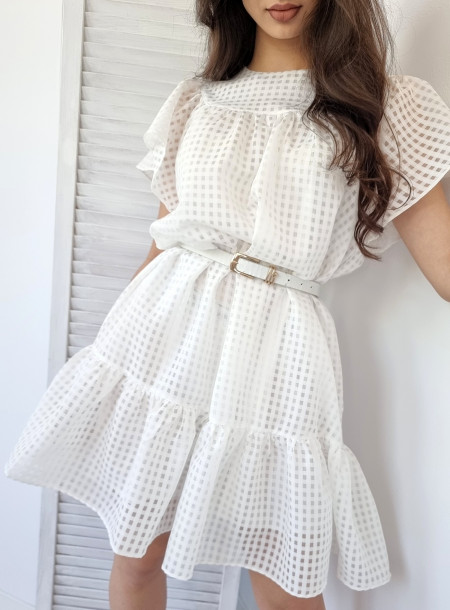 Sukienka 806 biała