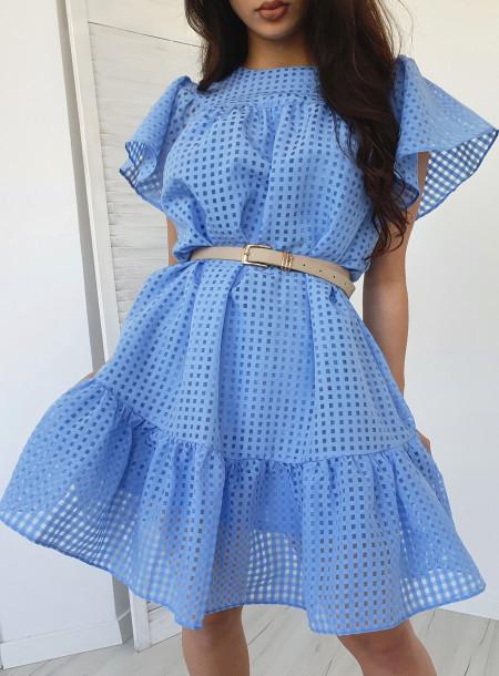 Sukienka 806 niebieska
