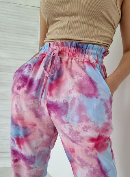 Spodnie haremki 1202 różowe