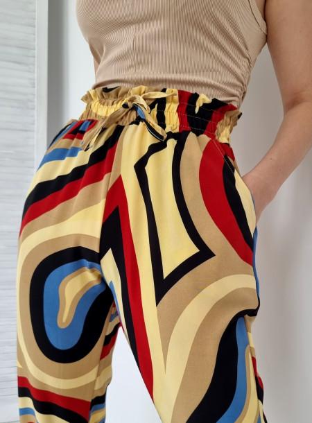 Spodnie haremki 1203 żółte