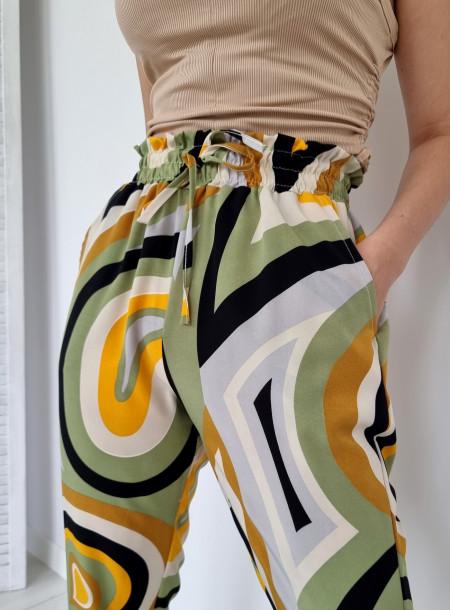 Spodnie haremki 1203 zielone