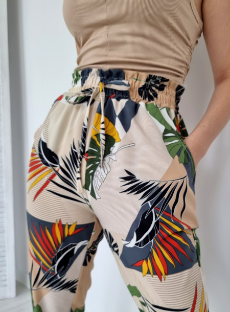 Spodnie haremki 1206 beżowe